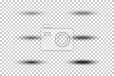 Obraz Zestaw wektora owalnym szare cienie z miękkimi krawędziami na przezroczystym tle. Szablony dla swojego projektu.