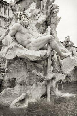 Obraz Zeus w Fontanna Berniniego Czterech Rzek, Rzym.