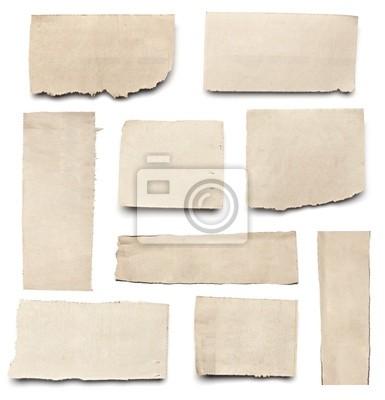 Obraz zgrywanie biały papier wieści tła wiadomość