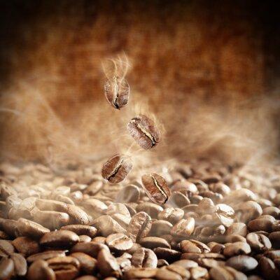 Obraz ziaren kawy i dymu