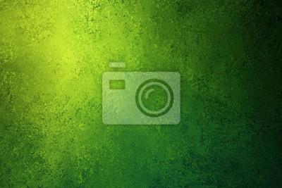 Obraz zielone i żółte tło tekstury z trudnej sytuacji vintage grunge i projekt narożny błyszczący reflektor