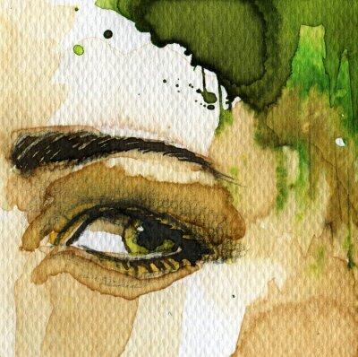 Obraz zielone oko