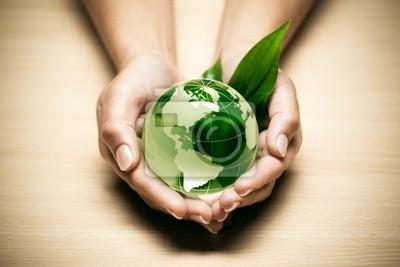 Zielone pojęcie ekologii planeta Ziemia
