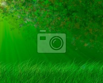 zielone tło wiosna