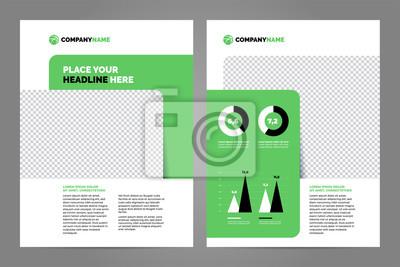 Zielony biznes broszura koncepcja ulotki projekt szablon a4