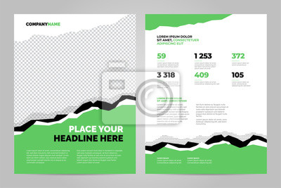 Zielony szablon broszury dla prezentacji korporacyjnych