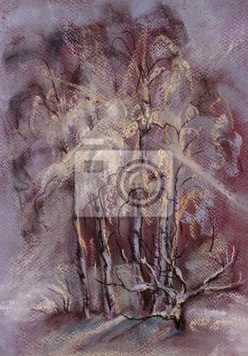 Obraz Zimowe brzozy