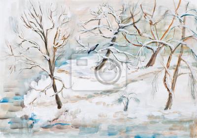 Obraz Zimowy krajobraz