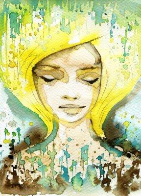 Obraz złota kobieta