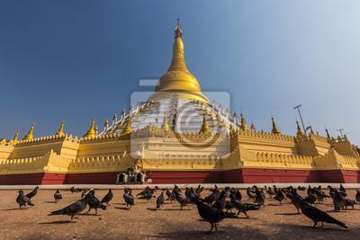 Złota pagoda w zwycięstwo ziemi króla bayinnaung, Bago