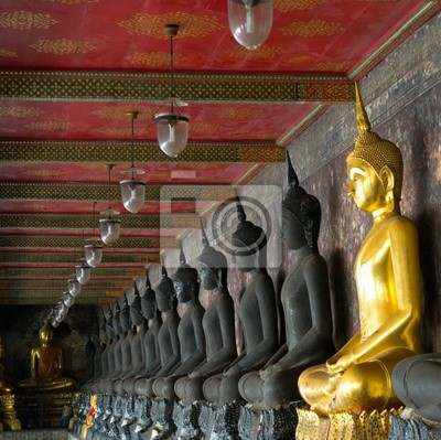 Złoty buddów w silnym sutat, Bangkok