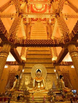Złoty Buddy w Tajlandii.