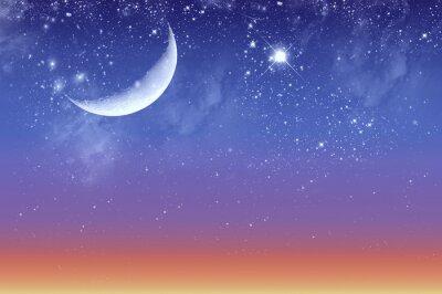 Obraz Zmierzch piękna i gwiaździste niebo