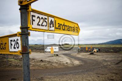 Znak kierunku w Islandii