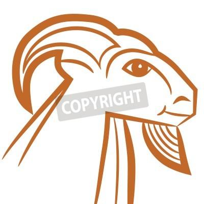 Znak Zodiaku Koziorożec Logo Ikona Stylu Szkic Tatuaż Kozę Na Obrazy Redro