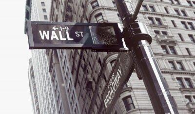 Obraz Znaki na skrzyżowaniu ściany i Broadway Streets