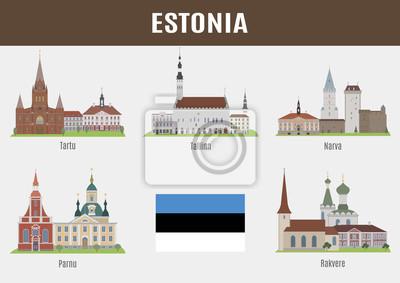 Znane Miejsca estońskich miast