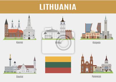 Znane Miejsca litewskie miasta