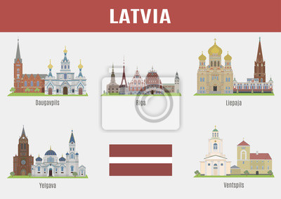 Znane Miejsca miast na Łotwie