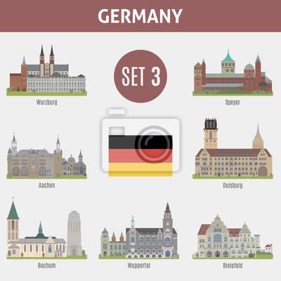 Znane Miejsca miast w Niemczech