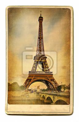 Znane Miejsca w Europie Paryż archiwalne kart -