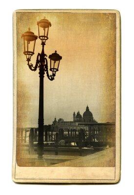 Obraz Znane Miejsca w Europie starych kart - Wenecja