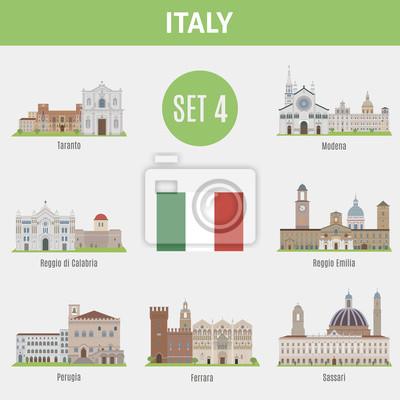 Znane miejsca Włochy miast.