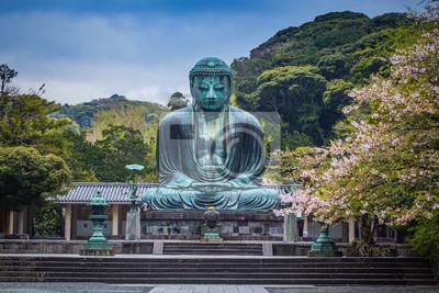 Znani Wielki Budda z brązu posąg w Kamakura, Kotokuin Temple.