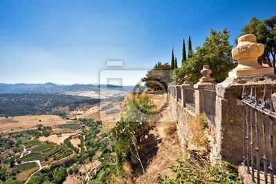 Zobacz na hiszpańskiej dolinie. ronda. Malaga
