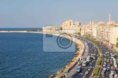 Zobacz port w Aleksandrii, w Egipcie