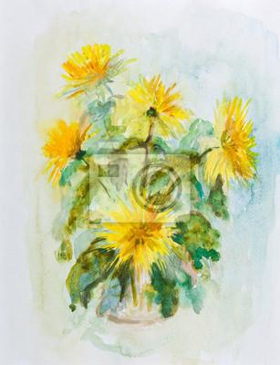 Obraz Żółte chryzantemy
