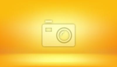 Obraz żółte tło, abstrakcyjne studio gradientu i ściany tekstury wektor i ilustracji, może być używany przedstawiony produkt
