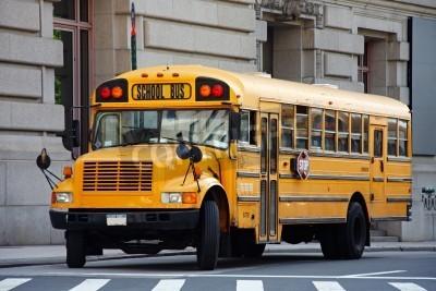 Obraz Żółty autobus szkolny - Manhattan, Nowy Jork, USA