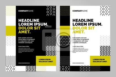 Żółty i czarny Szablon układu broszury, tło projektu okładki i raporty roczne.