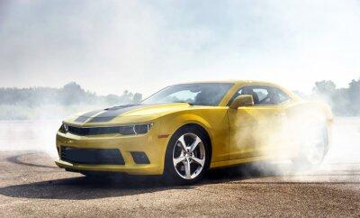 Obraz Żółty samochód sportowy luksus