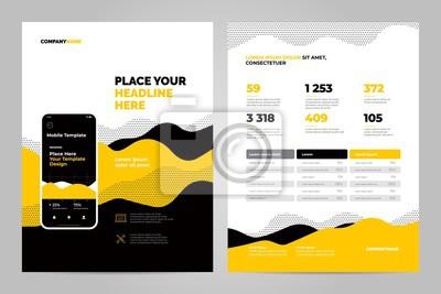Żółty streszczenie tło dla dokumentów biznesowych, ulotki i plakaty. Technologie mobilne, aplikacje i usługi online plansza koncepcja.