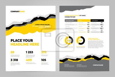 Żółty szablon broszury dla prezentacji korporacyjnych