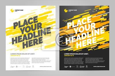Żółty szablon zaproszenia sport projekt ulotki. Można dostosować do broszury, raportu rocznego, magazynu, plakatu.