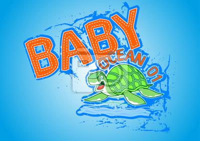 Obraz żółwie morskie