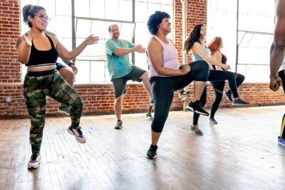 Obraz Zumba class at the gym