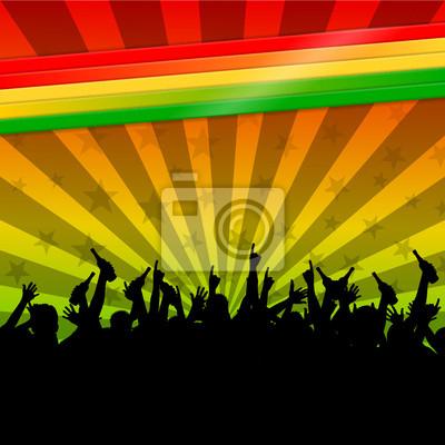 Obraz zwolniony Regenbogenfarben reggae II
