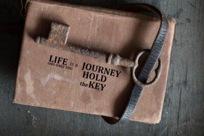 Obraz Życie jest podróżą, a tylko ty masz klucz.