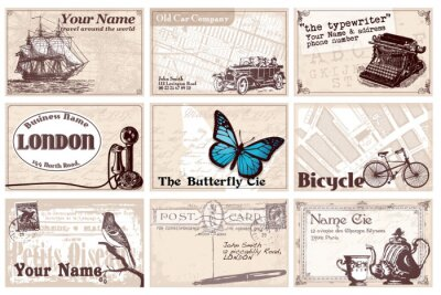 12 karty retro wizyty