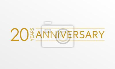 Plakat 20-lecia rocznicy godła. Ikona lub etykieta rocznicy. 20 lat celebrowania i projektowania elementów gratulacyjnych. Ilustracji wektorowych.