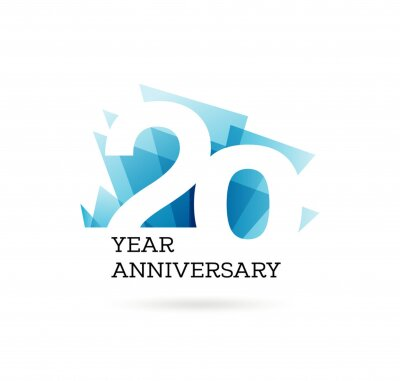Plakat 20th years anniversary label for celebration of company