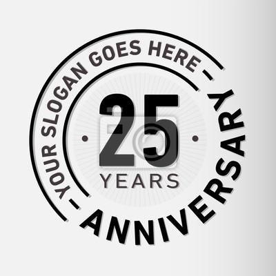 Plakat 25 lat logo szablonu. Wektor i ilustracji.