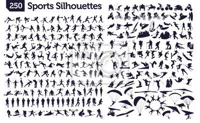 Plakat 250 sportowe sylwetki