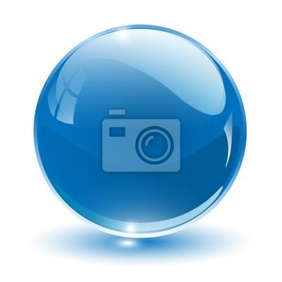 Plakat 3D crystal sphere