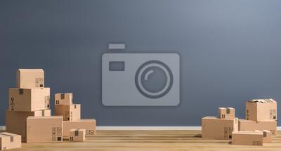 Plakat 3D-ilustracja Umzugskartone
