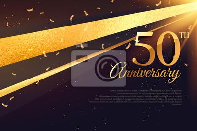 Plakat 50. rocznica uroczystość karty szablonu
